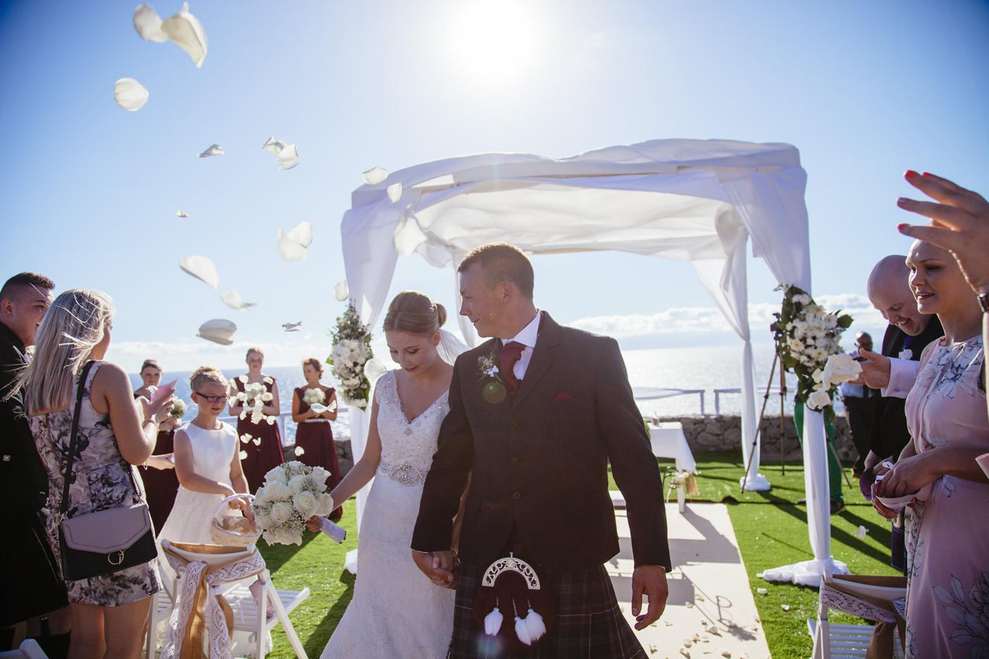 Bruiloft ceremonie planning en organisatie in Tenerife