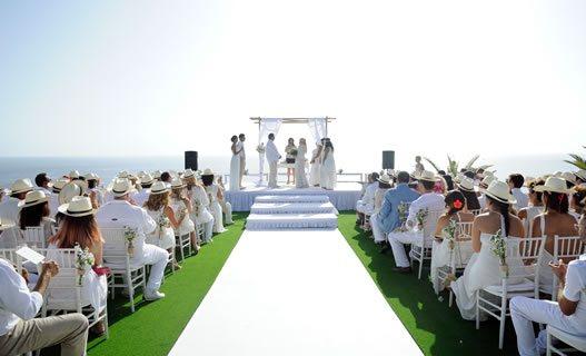 Strand bruiloft locaties in Tenerife, Spanje