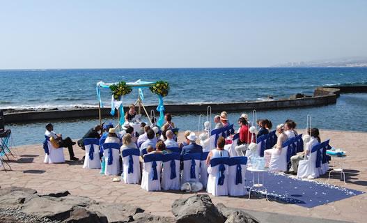 Zeezicht trouwlocaties in Tenerife, Spanje
